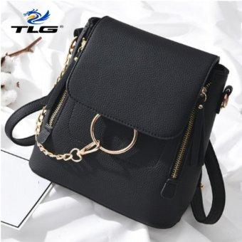 Túi nữ thời trang phong cách Hàn Quốc 2 trong 1 Đồ Da Thành Long TLG 208100 2 (đen)