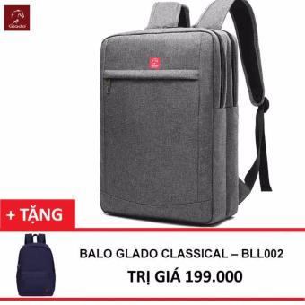 Balo Thời Trang Glado Cylinder BLC011 (Xám) + Balo Classical - Hãng Phân Phối Chính Thức