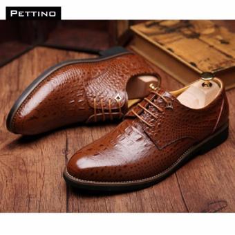 GIÀY CÁ SẤU CAO CẤP - Pettino GD-10 (nâu)