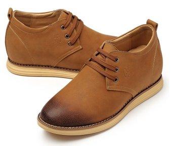 Giày tăng chiều cao nam Puri HQ 779 8 CM (Nâu)