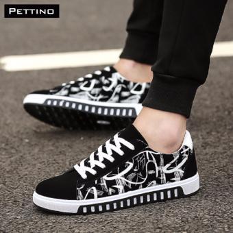 giày nam HOT 2017 - Pettino GV08 (trắng đen)