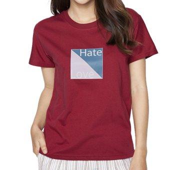 Áo thun nữ Love And Hate Suvi SuviTF0072 (Đỏ)