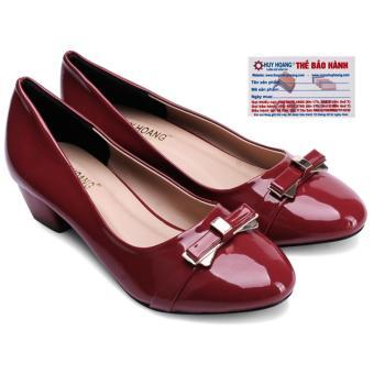 HL7009 - Giày nữ đế thấp Huy Hoàng màu đỏ đế 3cm