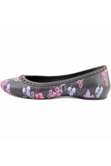 Giày búp bê nữ Crocs Lina Luxe Flat Blk/Plum (họa tiết)