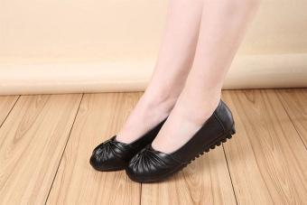 Giày Búp Bê Nữ Nơ Cánh Bướm - LN1224 - Đen