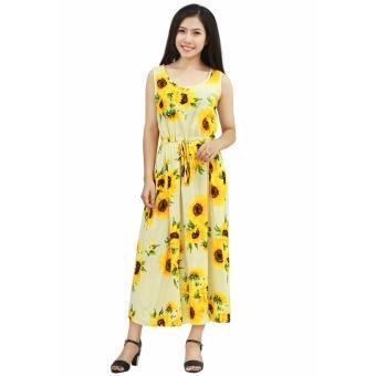 Đầm maxi hoa hướng dương