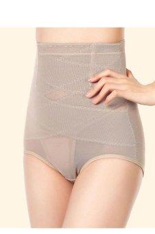 High Waist Cincher Shapewear Tummy Control Abdomen Pant Underwear (Beige) - intl