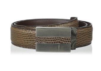Thắt lưng (nịt) da nam cao cấp hoạt tiết bò sát Stacy Adams Men's 32 mm Lizard Print Genuine Leather Belt (Mỹ)