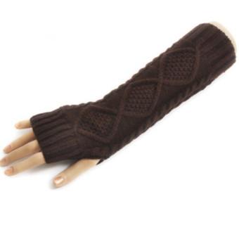 Women's Warm Winter Gloves Mittens Coffee