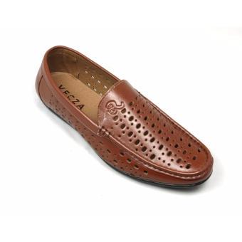 Giày lười nam da cao cấp GL-02 (Nâu)