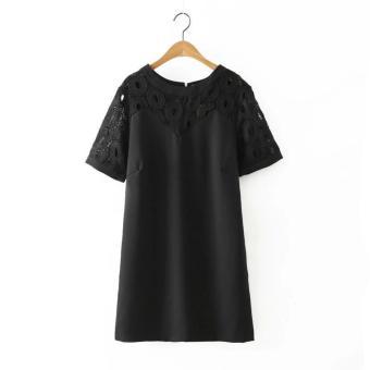Váy xuông ren ZYRA hàn quốc - Màu Đen