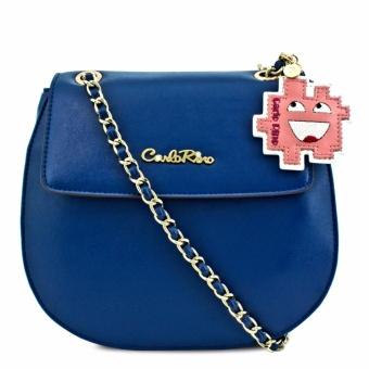 Túi deo chéo với tag da Carlo Rino 0303393-001-08 (đen)