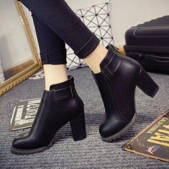Giày boot nữ cổ ngắn ĐƠN GIẢN trẻ trung GBN14901