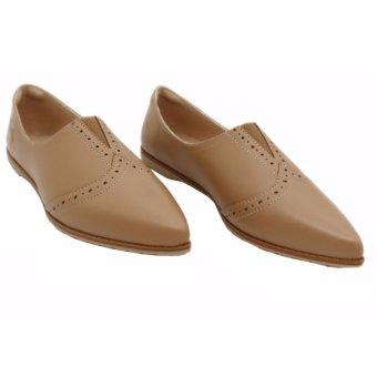 Giày búp bê nữ mũi nhọn đẹp SB069-BRW