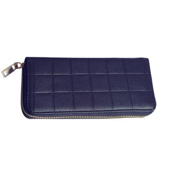 New Fashion Women PU Leather Long Wallet(Black) - intl