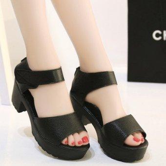 Giày sandal cao gót quai dán nữ tính thời trang - XS0199