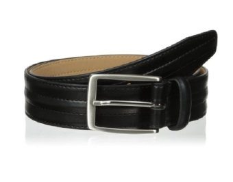 Thắt Lưng Da Đen Nam Dockers Men's Feather-Edge Belt with Center Padding (Mỹ)