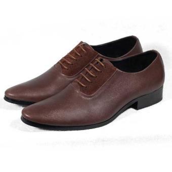 Giày tây cột dây da Tathanium Footwear TFBRUBRS0029 (Nâu)