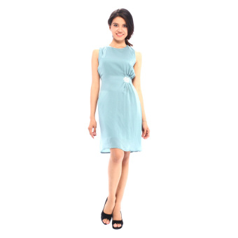 Đầm công sở bb fashion house d0024 (Xanh).