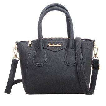 Fashion Women PU Leather Handbag Messenger Bag(Grey) - intl
