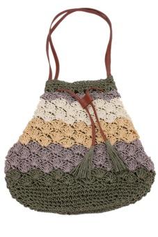 LALANG Straw Shoulder Bag Fashion (Multicolor)