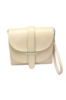 HKS Fashion Girl Women Leather Satchel Shoulder Messenger Bag Handbag Beige - intl