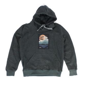 Áo khoác hoodie nữ in hình Let Go (xám đậm)