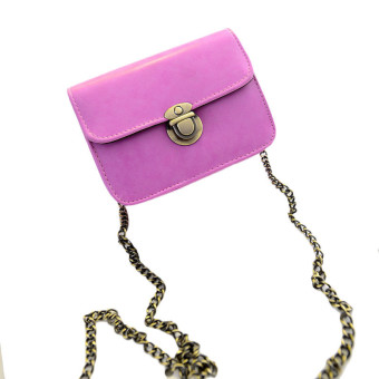 Lovely Girl Pu Leather Mini Small Adjustable Shoulder Bag Handbag Hot Pink - Intl