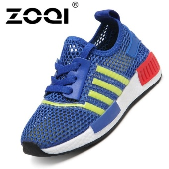 Boys Fashion Light Breathable Sport Shoes Running Shoessneaker (Blue) - intl