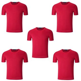 Bộ 5 áo thun nam micro mesh ZANI ZMA81824NR – Màu đỏ