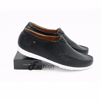 Giày Mọi Nam Đơn Giản Da Thật GM280 (Đen)