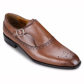 Giày Da Pierre Cardin Brown Brogue Monk - PCMFWLA009