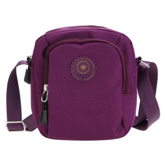 Waterproof New Oxford Sports Horizontal Cloth Shoulder Bag (Purple) (Int: One size) - Intl