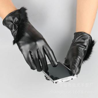 Găng tay da nữ cao cấp (Đen)