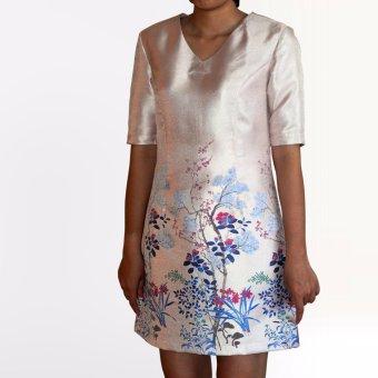 Đầm gấm OYO FASHION (hồng)