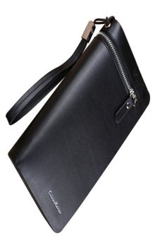 HKS Mens Holding Leather Bifold Wallet Credit ID Card Holder Coin Purse (Black) - intl