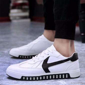 Giày Sneaker Nam Rozalo RMG4129WB-Trắng Đen.