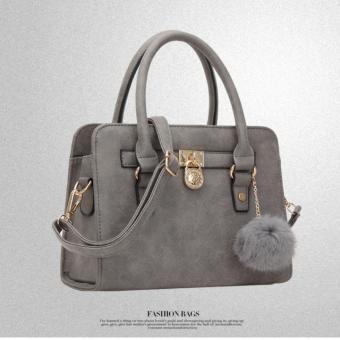 Túi xách da lộn nữ thời trang, kiểu dáng thanh lịch(Xám nhạt)