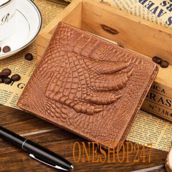 Bóp nam da bò THẬT, vân tay cá sấu, HÀNG CHUẨN A91V