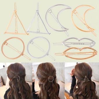 Kẹp tóc MOON ( kẹp môi+ kẹp tròn) phiên bản mạ vàng