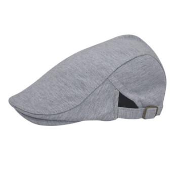 Beret Peaked Cap Grey