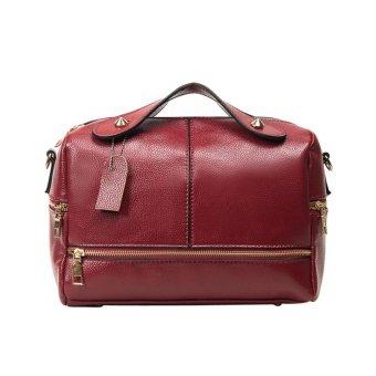 New Women Handbag PU Leather Shoulder Bag (Red) - intl