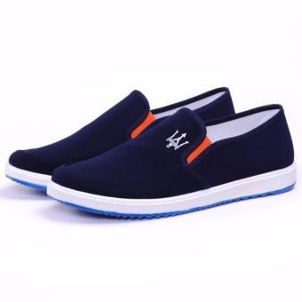 Giày lười vải nam - GV02 ( xanh )