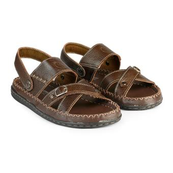 Giày Xăng Đan Nam Da Bò HC5009 (Nâu)
