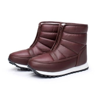 New Women Men Unisex Winter Snow Ski Boots Waterproof Rubber Sole Warm Shoes - intl