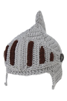 LALANG Hand-Knit Beanie Knight Masks Cap (Dark Grey)