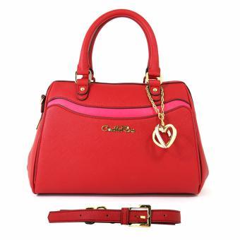 Túi xách tay hình thang Carlo Rino 0303332-002-04 (màu đỏ)