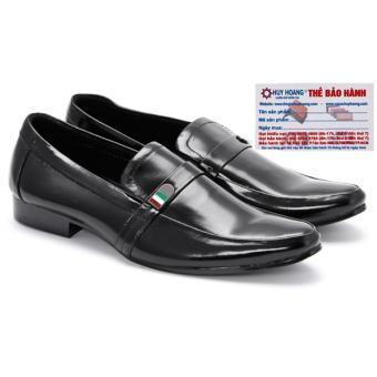 HL7104 - Giày tây nam Huy Hoàng da bò màu đen
