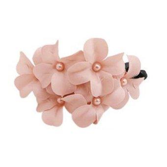 Moonar Women Girls Hair Accessories Flower Hair Clip Hairpins Barrette Pink - Intl