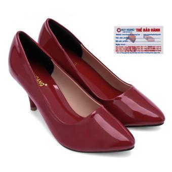 HL7017 - Giày gót cao Huy Hoàng màu đỏ